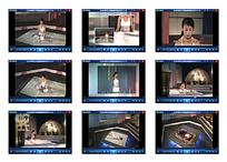 女子室内演示瑜伽视频