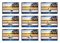 女子瑜伽视频素材