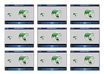 透明转动地球动画视频