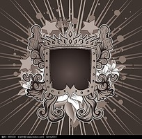 花纹边框圆圈五角星背景素材