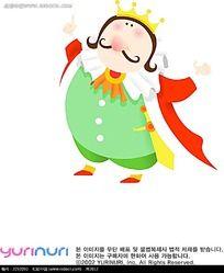 肥胖的国王卡通手绘