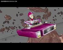 3D爆炸飞车动画视频