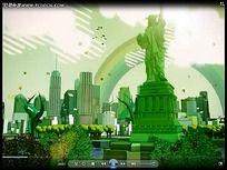 3D美国建筑动画视频