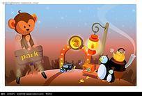 可爱小猴子卡通漫画