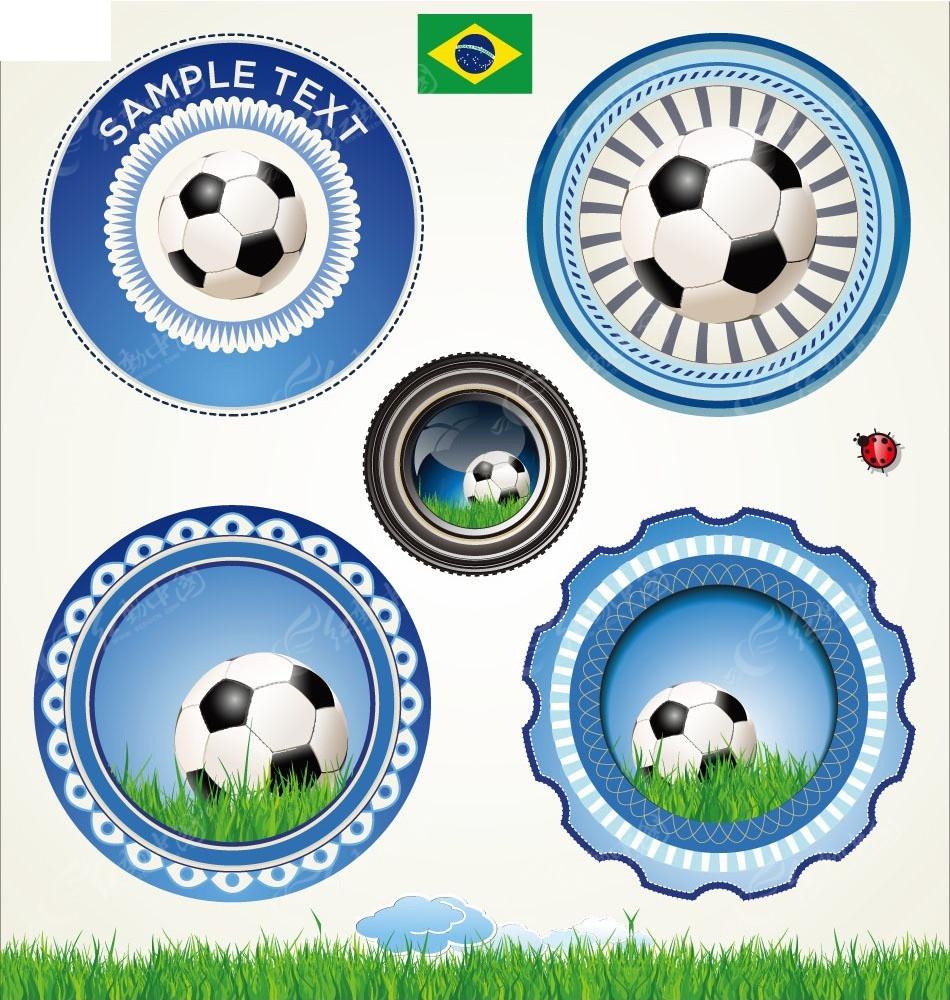 足球圆形图标设计