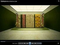 3D抽象墙面装饰视频