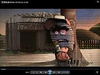 卡通人物房子动画视频