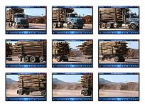 实拍卡车运输木头视频素材