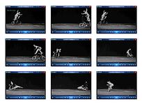 自行车杂技表演黑白视频