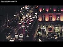 城市道路车辆夜景视频