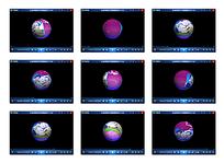 紫色圆球展示照片视频