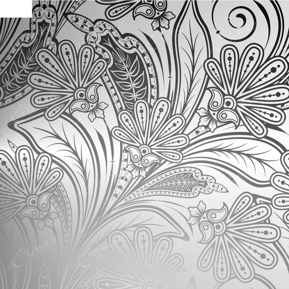 黑白花枝背景素材