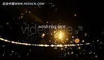 金色粒子LED光效视频