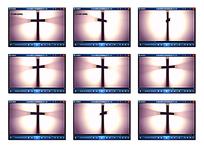 十字架旋转光效视频