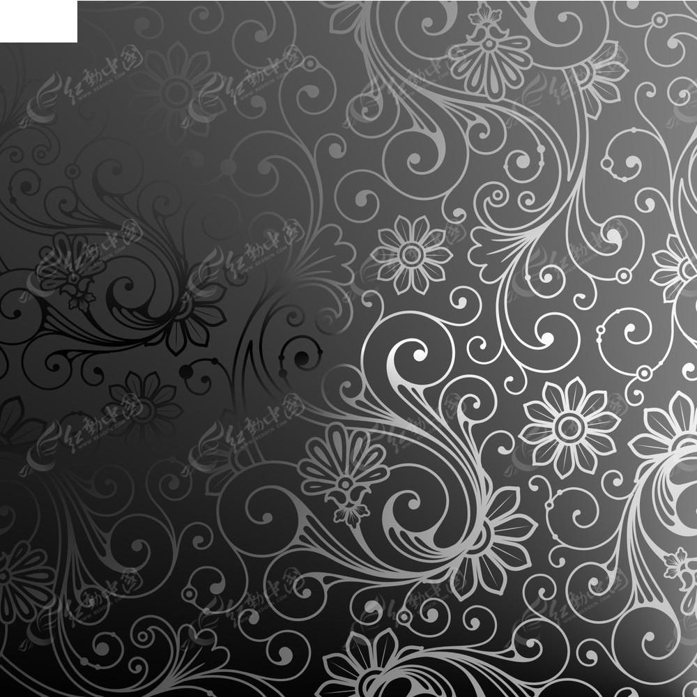 手绘花纹背景图案