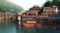 滨水古建住宅群3d模型设计