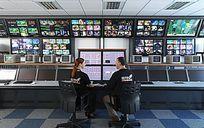 高科技监控室