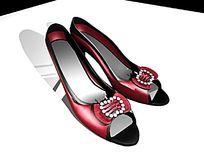 女鞋3d模型