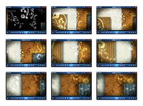 欧式光效背景花纹视频