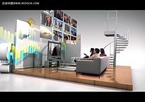 3D室内立体装饰视频