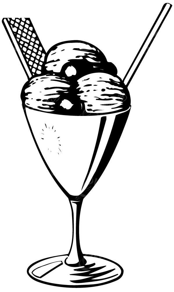 冰激凌冷饮手绘线描图形eps素材免费下载(编号3909496