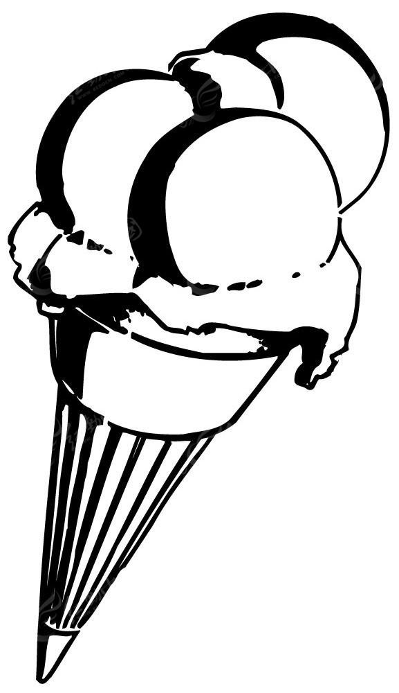 冰淇淋简笔画-冰激凌矢量手绘图形EPS素材免费下载 编号3909506 红动网