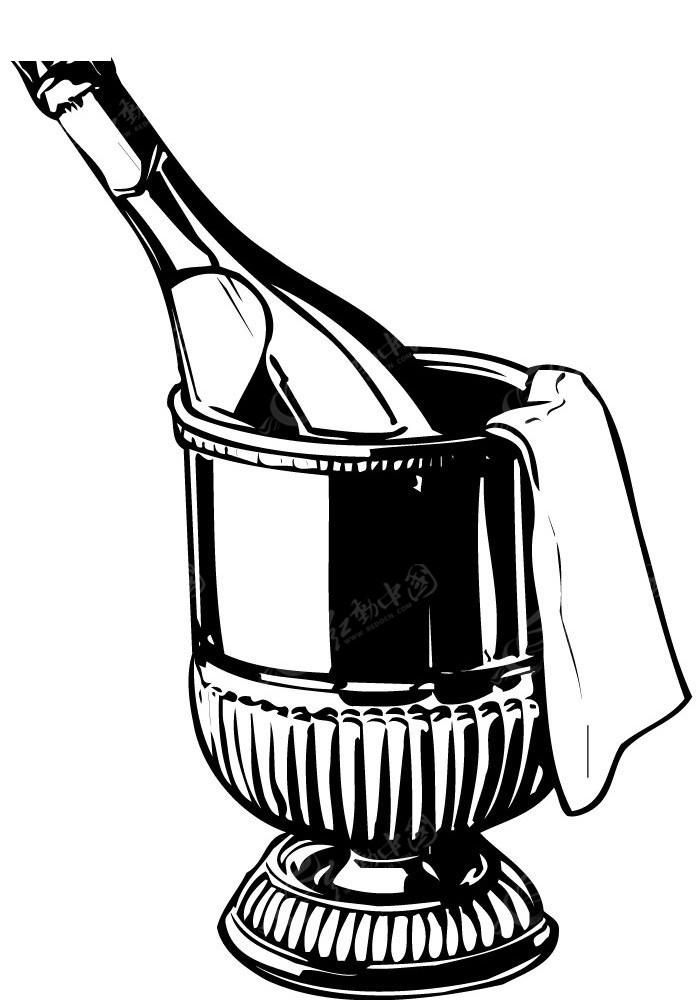 冰镇啤酒矢量手绘图形