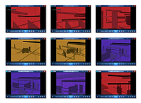 彩色方格背景视频