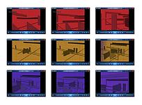 彩色空间框架背景视频