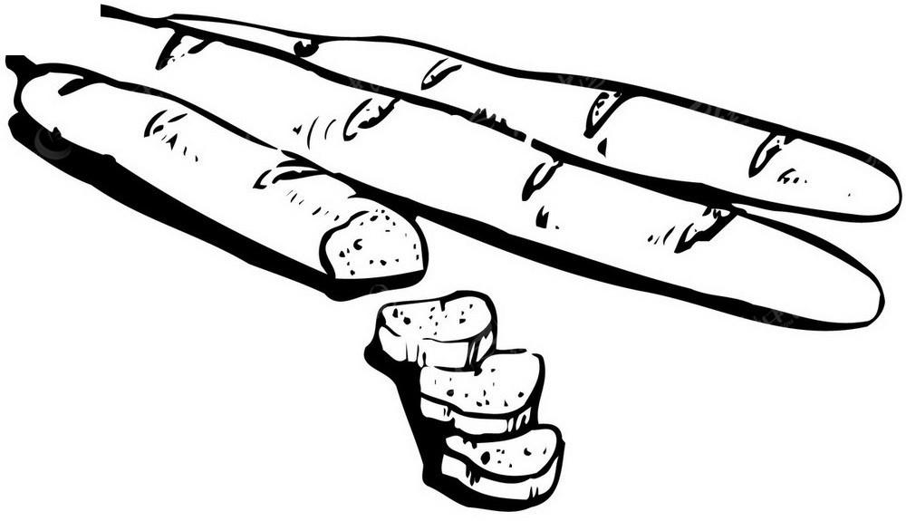 长条面包矢量手绘图形