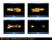 橙色光效动态视频