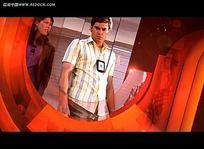 橙色影视片段视频