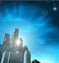 城市高楼建筑矢量图