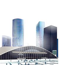 城市建筑矢量背景素材