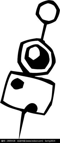 串串香手绘线描图形