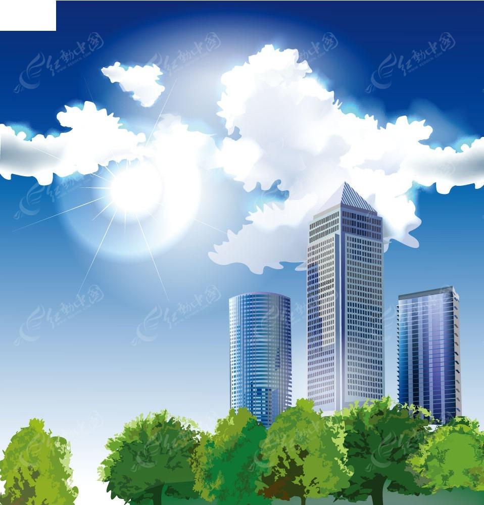 高楼建筑背景图