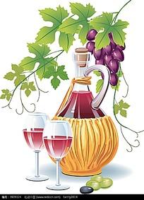 红葡萄酒酒杯矢量图形