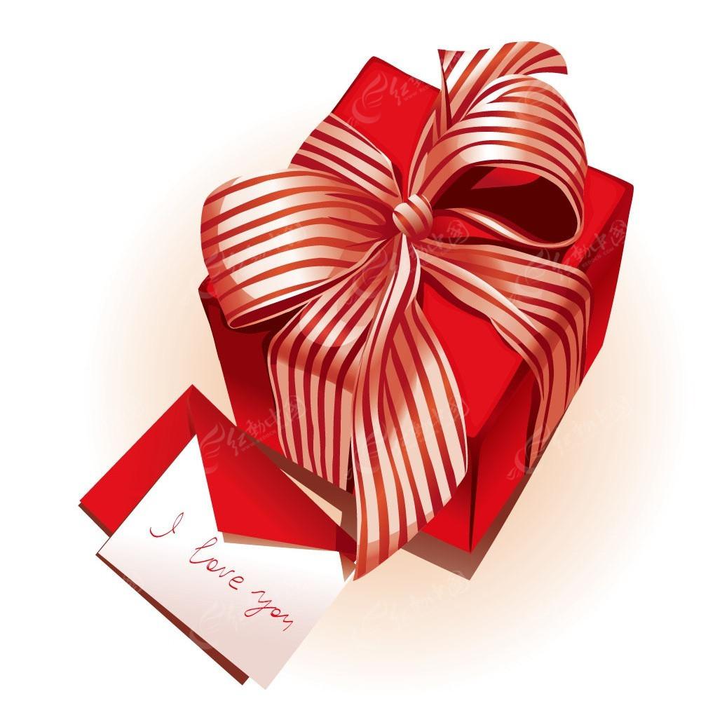 红色情人节礼物盒