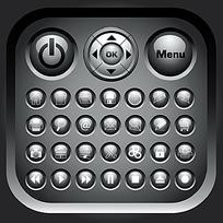 灰色系圆形按钮图标