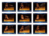 金色光效石狮子视频