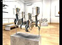 立体金属展厅视频