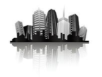 楼房建筑矢量图形