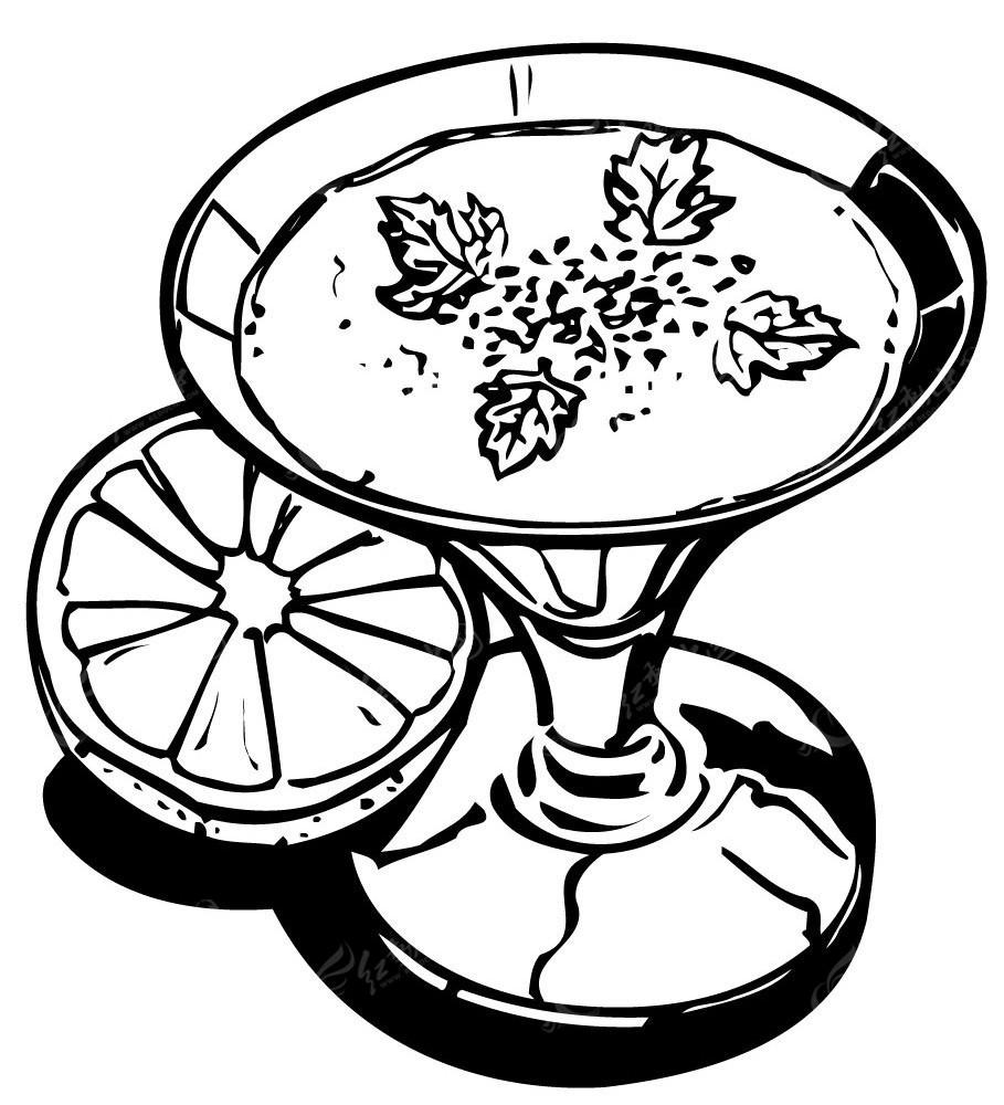 柠檬汁矢量手绘图形