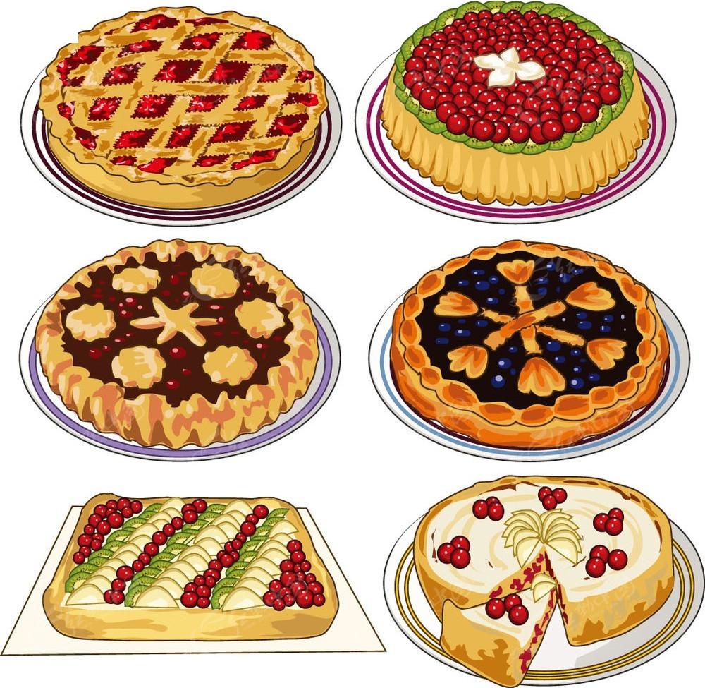 披萨手绘矢量图形