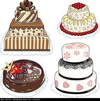 巧克力奶油蛋糕矢量图形