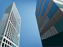 商务区大厦高楼矢量图形
