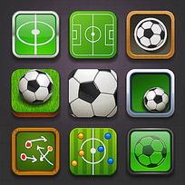 矢量方形足球类图标