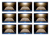 书本放射光效背景视频