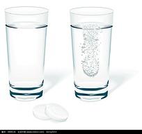 透明玻璃杯矢量图形