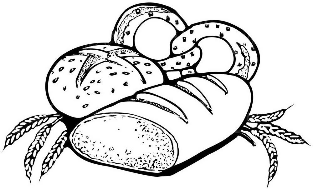 面包 卡通手绘简笔画